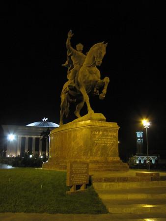 Amir Timur statue in Tashkent