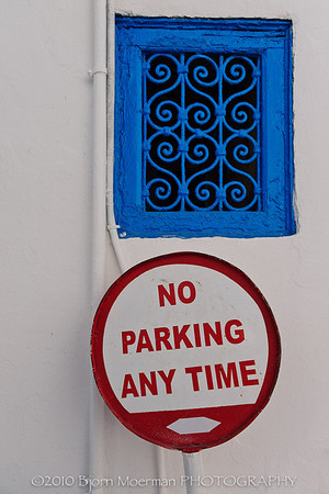 Traffic signs at Sidi Bou Said, Tunis