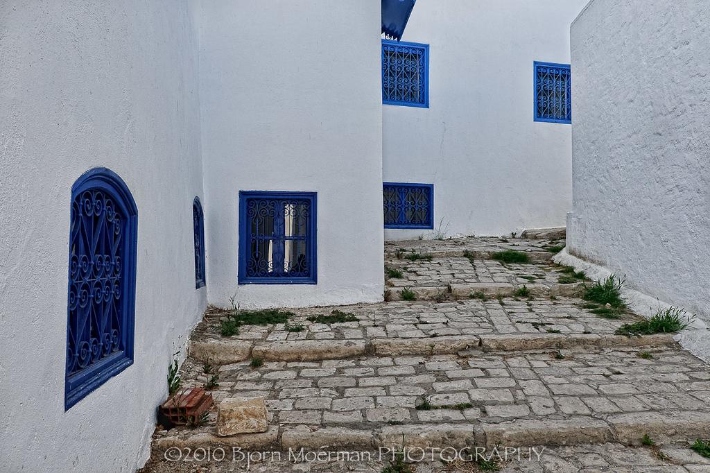 Quit street at Sidi Bou Said, Tunis