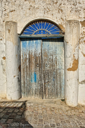 Door in need for paint at Sidi Bou Said, Tunis