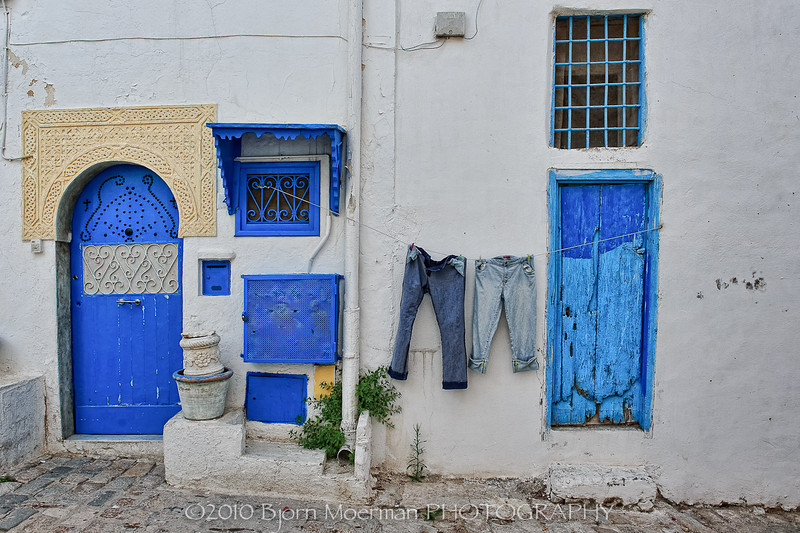 Laundry at Sidi Bou Said, Tunis