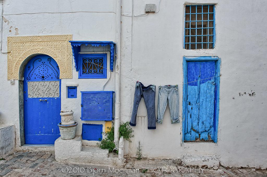 Laundry at Sidi Bou Said, Tunis