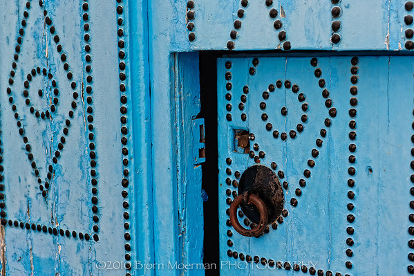 The famous Sidi Bou Said, Tunis house doors