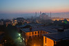 Taking images of sunrise over Mosques; Hagia Sophia Mosque