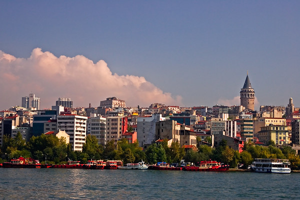 Cruise along the Bosphorus seeing the sites of Europe and Asia
