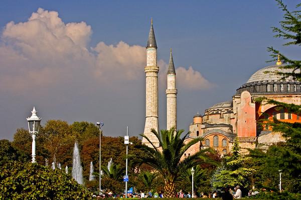 Sites outside Hagia Sophia Mosque