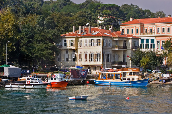 Cruse along Bosphorus; sites of asia and europe