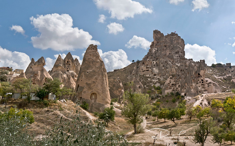 Dwellings in fairy-like rock chimneys