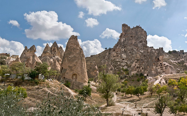 Dwellings in fairy-like rock chimneys