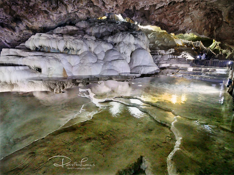 Travertines in cave