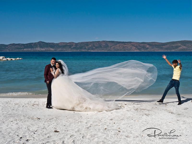 Chanced upon this wedding couple