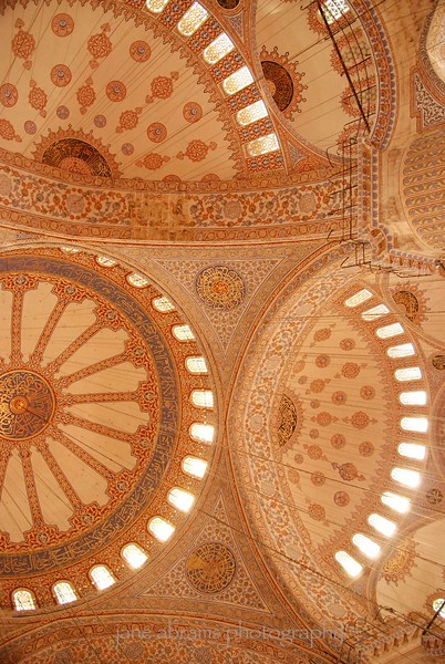 ceiling of the Blue Mosque