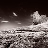 Dunure Castle in infrared