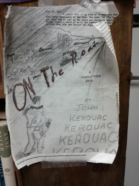Jack Kerouac's original vision for the cover of On the Road ... amazing