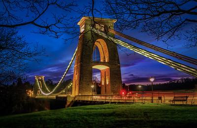 Blue Hours at Clifton suspension Bridge, Bristol, UK