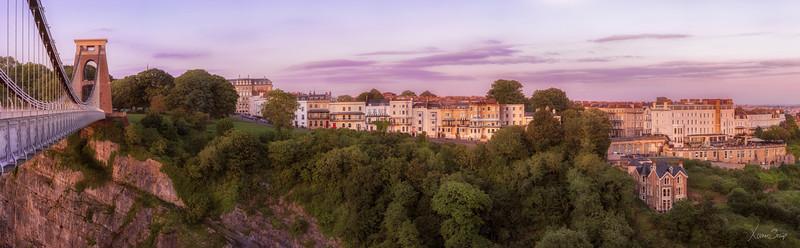 Bristol Clifton Village sunset