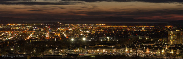 The lights of Salt Lake City.