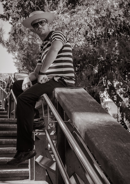 Gondolier waiting for clients