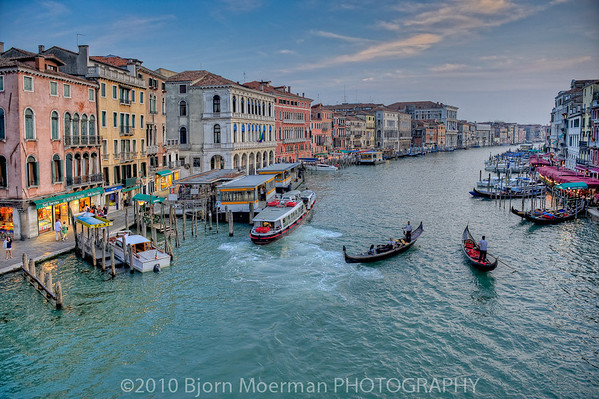 The busy Grand Canale, Venice