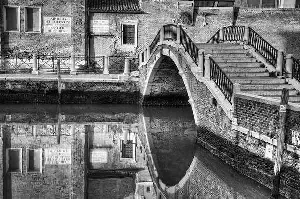 Venice winter day in Black and White