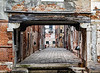 ITALY; Venice; Carnival; Sites alone The Grand Canal