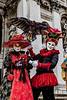ITALY; Venice; Carnival; Basilica of Santa Maria Della Salute; Mask people of Carnival