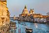 ITALY; Venice; Carnival; From Rialto Bridge; The Grand Canal
