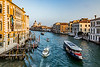 ITALY; Venice; Carnival; From Rialto Bridge; The Grand Canal