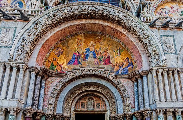 ITALY; Venice; Carnival; San Marco Square; Saint Mark's Basilica