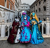 ITALY; Venice; Carnival; Bridge of Sighs; San Marco Square; Mask people of Carnival