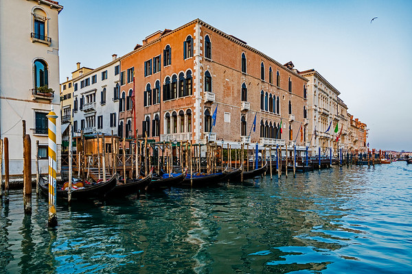 ITALY; Venice; Carnival; The Grand Canal; Sites alone The Grand Canal