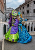 ITALY; Venice; Carinal; San Marco Square; Mask people of Carnival; Bridge of Sighs