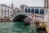 ITALY; Venice; Carnival; Rialto Bridge; The Grand Canal
