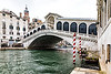 ITALY; Venice; Carnival; Rialto Bridge; The Grand Canal
