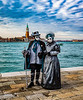 ITALY; Venice; De Arsenal; San Giorgio Island; Mask people of Carnival