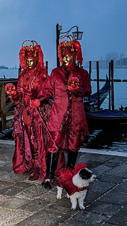 ITALY; Venice; Mask people of Carnival; San Marco Square