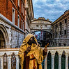 ITALY; Venice; Mask people of Carnival; Bridge of Sighs