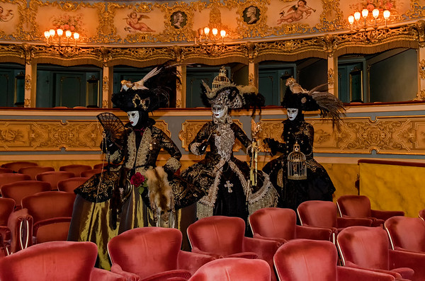 ITALY; Venice; Venice Opera House; Mask people of Carnival