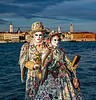 ITALY; Venice; San Giorgio Island; Mask people of Carnival