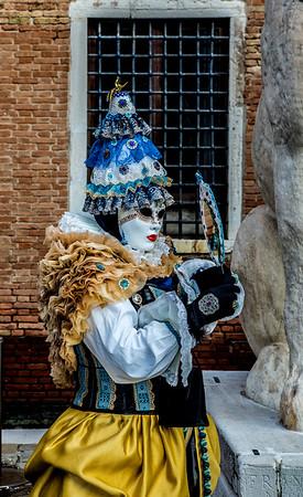 ITALY; Venice; De Arsenal; San Giorgio Island; Mask people of Carnival