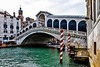 ITALY; Venice; The Grand Canal; Rialto Bridge