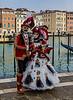 ITALY; Venice; Basilica of Santa Maria Della Salute; Mask people of Carniva