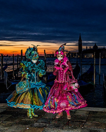TALY; Venice; Mask people of Carnival; San Marco Square