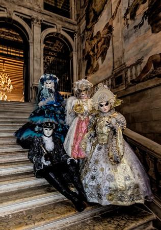 ITALY; Venice; Mask people of Carnival; Hotel Ca Sagredo