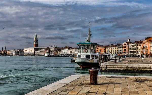 ITALY; Venice; Sites alone The Grand Canal