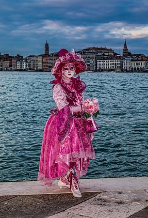 ITALY; Venice; San Giorgio Island; Mask people of Carnival
