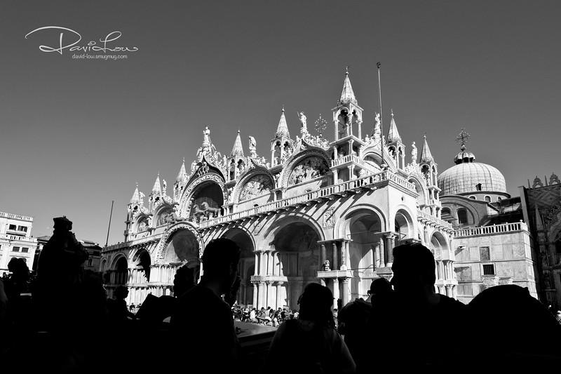 Silhouette of Basilica di San Marco