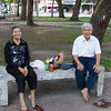 Old couple in the park