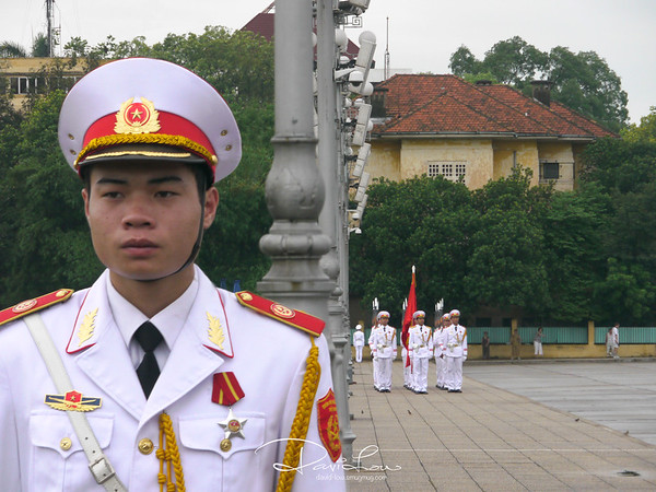Flag raising ceremony at Ba Ding Square
