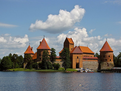 island castle in Trakia, a former capital of Lithuania